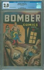 Bomber Comics # 4 CGC 2.0 GD Hitler Tojo & Mussolini Cover 1944 Last Issue