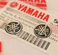 2 X Yamaha 100% Original 12mm Stimmgabel Schwarz / Silber Emblem Aufkleber