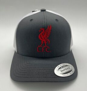 Liverpool FC Red Trucker Cap with Embroidered Logo. Free Worldwide shipping!