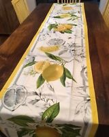 Williams Sonoma Meyer Lemon Table Tablecloth Round 70x90 70x108 70x120 or Runner