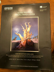 NEW Epson ULTRA Premium LUSTER PHOTO Paper 8.5x11 50 SHEETS