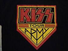 KISS Rock Band Kiss Army Tour 2012 Concert Fan Black Cotton T Shirt Size M