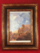 """""""Morning"""" by Maxfield Parrish Print Repro w New Gold & Black Frame 9 x 7 Sale!"""