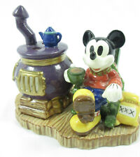 Vintage Mickey Season of Song Tealight Candle Holder Pot Belly Stove Disney