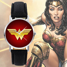 Wonder Woman Watch black band dressy casual stainless steel DC comics new 2018