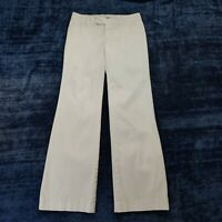 Gap Original Stretch Flare Pants Trousers Women's Size 0 Ivory Cotton Blend