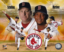 Curt Schilling Pedro Martinez Red Sox 8x10 Photo