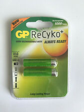 GP ReCyko+ AAA Batteries - rechargable 1000 times - 2 x Batteries - New