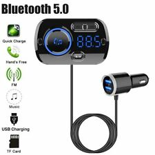 Victsing Wireless Car Bluetooth 5.0 FM Transmitter MP3 Radio Adapter USB Charger