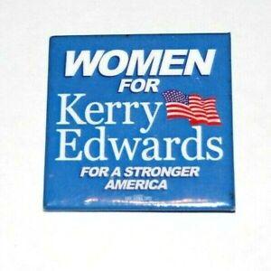 "2004 WOMEN FOR JOHN KERRY EDWARDS 2.25"" campaign pin pinback button political"