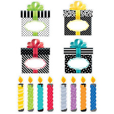 """Creative Teaching Press Bold & Bright Birthday Party Cut Outs 6"""" 0636"""