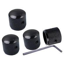 4 pièces métal noir Volume Ton contrôle F guitare électrique basse Dôme