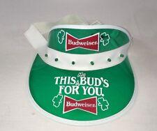 Vintage Budweiser Light Up Sun Visor Hat Plastic Festival Cap EUC