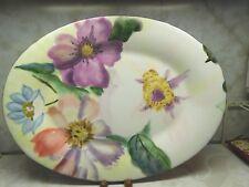 """Pfaltzgraff Flower Market Oval Platter 18"""" Purple Underside"""