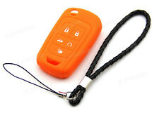 Orange Silicone Case Cover For Chevrolet Equinox 5 Button Remote Flip Key CHEV5F