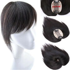 100% Human Hair replacement Topper Hairpiece Top Piece Toupee For Women 6inch UK