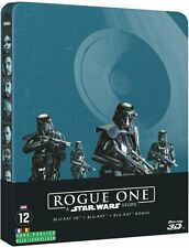 ROGUE ONE STAR WARS STORY  STEELBOOK BLU RAY 3D ET 2D NEUF SOUS CELLOPHANE