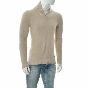 Cavallaro Napoli Cashmere Blend Men Viziano Pullover Sweater Thermal Knit Size M