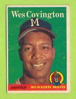 1958 Topps - Wes Covington (#140)  Milwaukee Braves