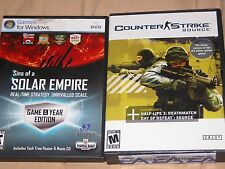 PC Counter Strike Source & Sins of a Solar Empire 2 game lot