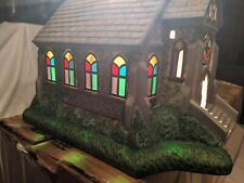 Partylite P7321 The Church Olde World Village Tealight House Lighted see pics