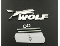 3D Metal Wolf Aufkleber Frontgrill Abzeichen Für Ford focus fiesta Logo Emblem
