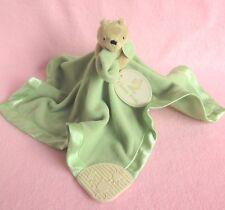 Disney Classic Winnie Pooh green teether comforter blanket doudou baby soft toy