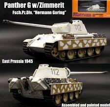 WWII German Panther G div Hermann Göring winter 1/72 Dragon diecast model tank
