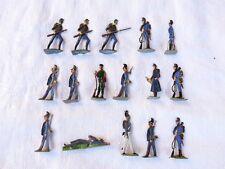 Plats d'étain - flat tin - zinnfiguren :  Guerre de 1870 -  16 prussiens