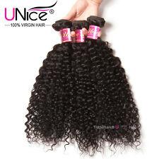 "8A 14"" Indian Virgin Curly Hair 3 Bundles UNice 100% Human Hair Extensions 300gr"