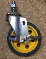 """New RockNRoller Rock N Roller R4CSTR/Y/B 4"""" G-Force Caster Brake R2 or R6 Carts"""
