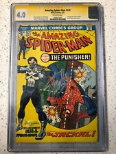 THE AMAZING SPIDER-MAN 129 CGC SIGNED BY STAN LEE 1ST THE PUNISHER FRANK CASTLE