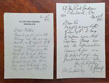 1905 2 x Letters from 54 Elm Park Gardens, Chelsea