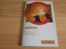 playbill program Seattle Symphony Carnegie Hall NYC May 2014 Ludovic Morlot