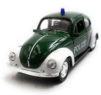 VW Polizei Käfer Beetle Modellauto Auto grün Maßstab 1:34 (lizensiert)