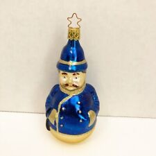 Old World Christmas Constable Ornament 1997 Hand Blown & Painted Glass Made Germ