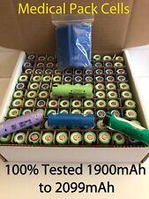 100 Mixed Panisonic/LG/MOLICEL 18650 1900mAh to 2099mAh Lithium Ion Cells