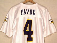 #4 Brett Favre Minnesota Vikings NFL white jersey / women's M / regular use /s50