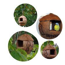 bird feeder coconut bird feeder wild bird food shabby chic Eco friendly