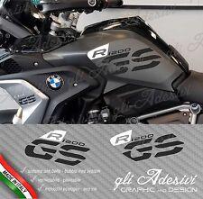 Set Adesivi Fianco Serbatoio Moto BMW R 1200 gs LC Executive 2017 WHITE & BLACK