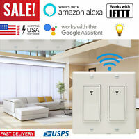 1/2 Gang Smart WiFi Wall Light Switch Modern Panel For Amazon Alexa Google Home
