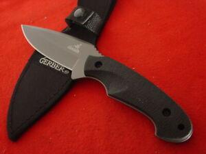 "Gerber Knives 8-5/8"" Full Tang Fixed Blade Sheath Knife MINT"