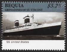 Estados Unidos Ss De Lujo océano del trazador de líneas/pasajero crucero Sello (Bequia)