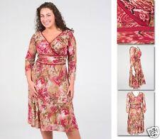 NEW!  Zaftique ULTIMATE MOTIF Dress ROSE 0Z 1Z / 14 16 / Large L XL 1X