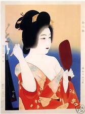 Japanese Art Print: First MakeUp by Insho- Reproduction