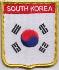South Korea Flag Shield Embroidered Patch Badge *