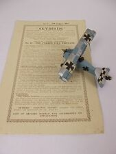 Givejoy Toys Skybirds 1/72nd Scale Aircraft Fokker D.R.1 Triplane In Blue