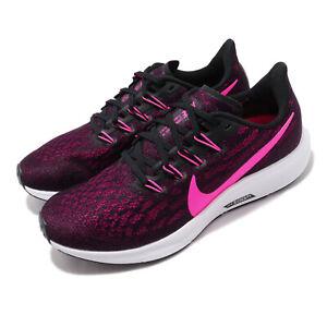 Nike Air Zoom Pegasus 36 Black Pink Blast Women Running Shoes Sneaker AQ2210-009