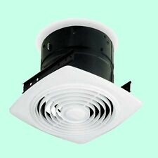"BATHROOM CEILING EXHAUST FAN White Kitchen Bath Room Ventilation 8"" Round Duct"