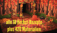 Animal Crossing New Horizons 🍁alle 18 Herbst-Rezepte + 420 Herbstmaterialien🍁